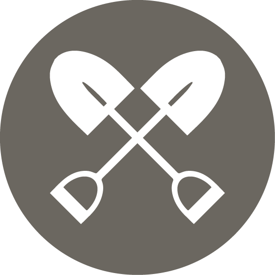 two shovels